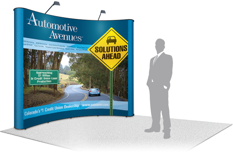 Automotive Avenues Background Booth Graphics